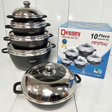 Dessini 10 Pieces Die Casting Cookware Set - Greatest deals