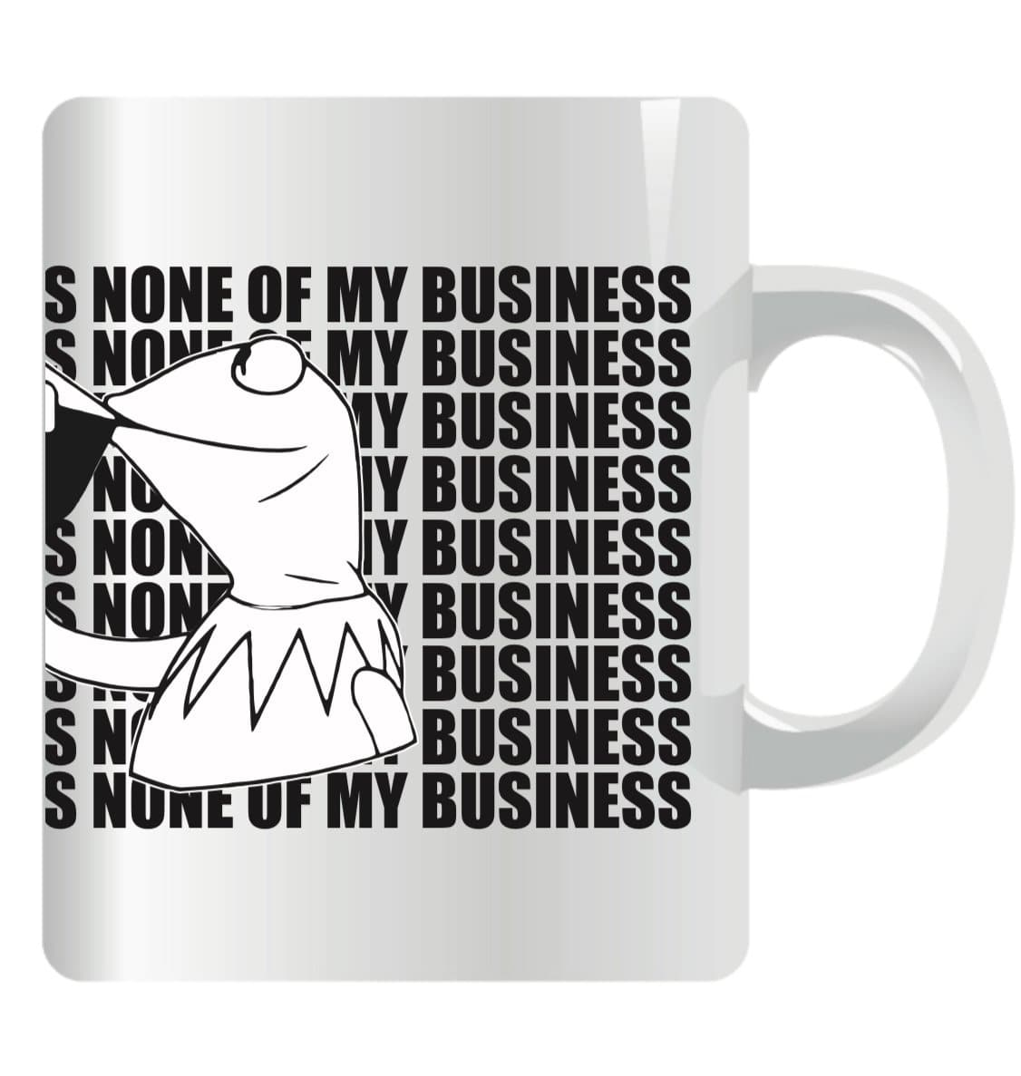 Kermit Mug White & Black But That`s None Of My Business