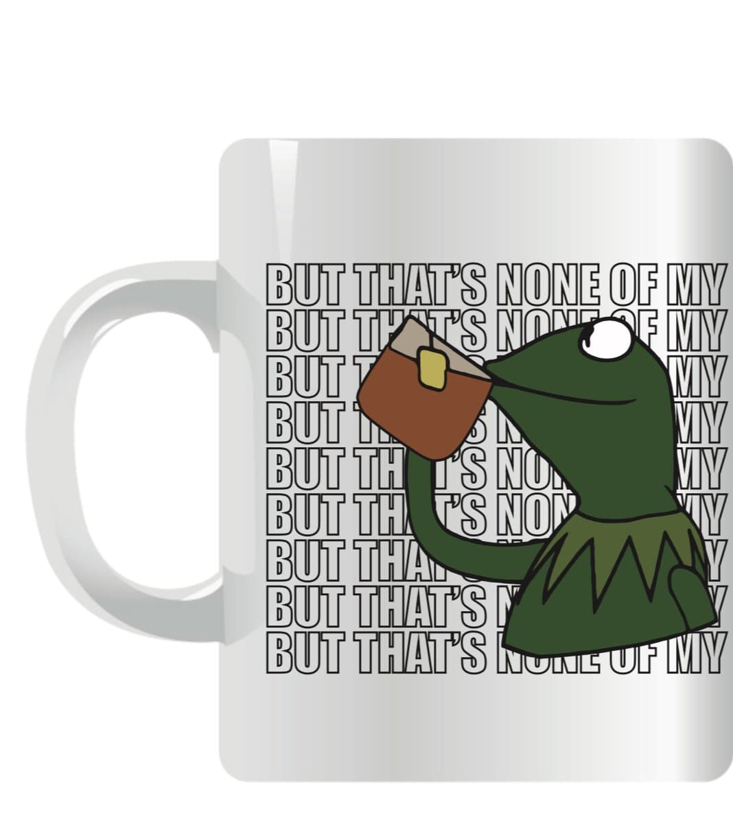 Kermit Mug White & Green But That`s None Of My Business