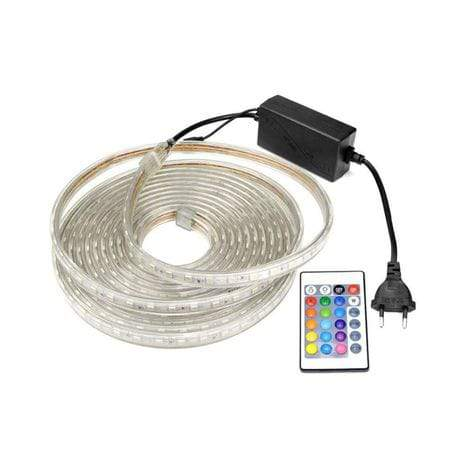 5M RGB LED Strip 220v & Remote Control - Greatest deals