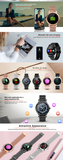 Smartwatch R2 Full Round Touch Custom Dial Gold/Black