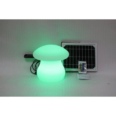 Solar Light Garden Mushroom With 8 Colors & Remote Control (26x26x26cm)