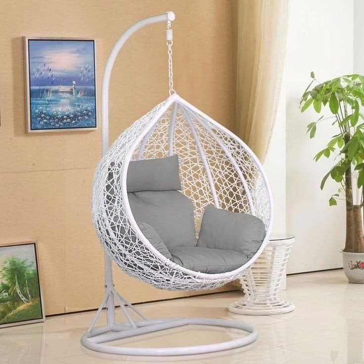 Outdoor Hanging Chair! White - Greatest deals
