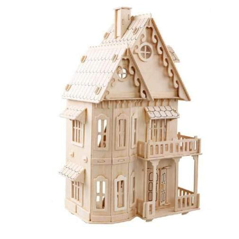 Wooden House 3D Gothic House Wooden Puzzle - Greatest deals
