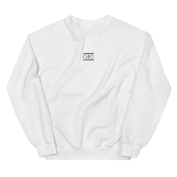 GiO Ancient Greece Embroidered Sweatshirt White