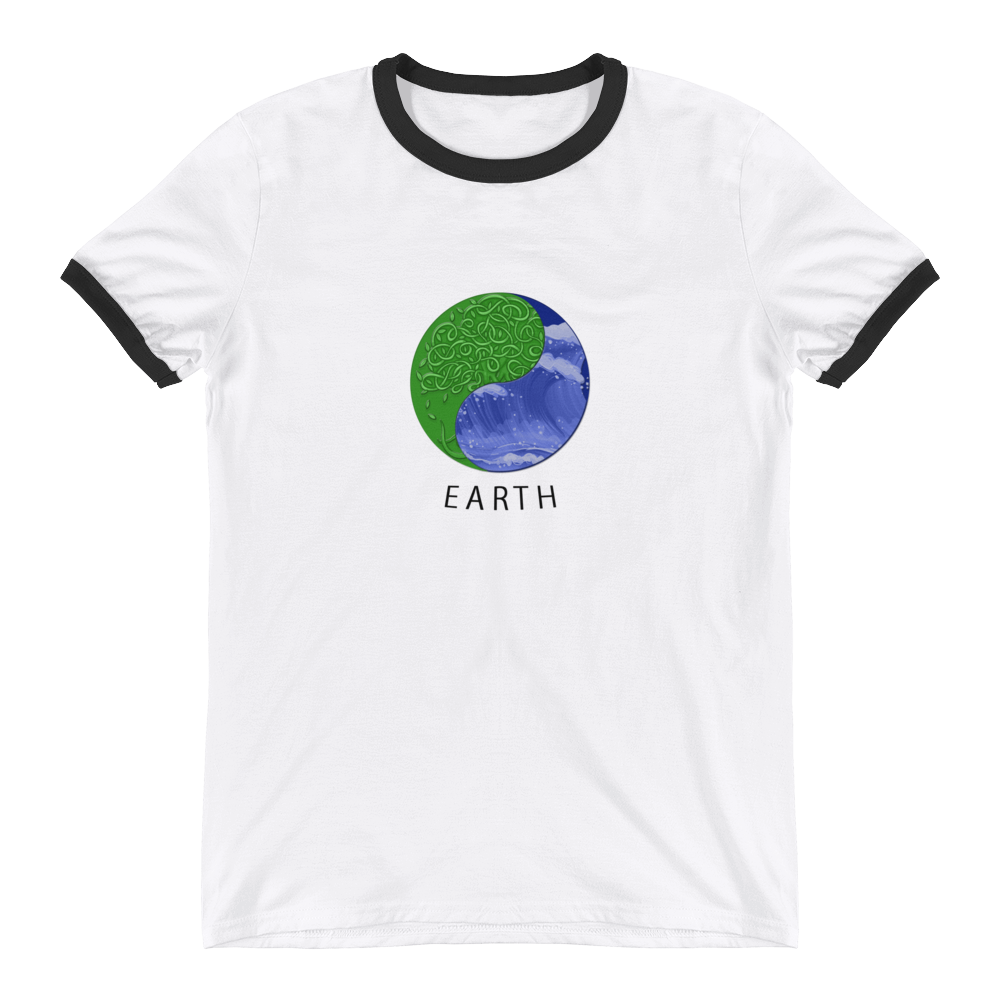 Earth - Ringer T-Shirt - GiO (1998) Online Clothes Shop