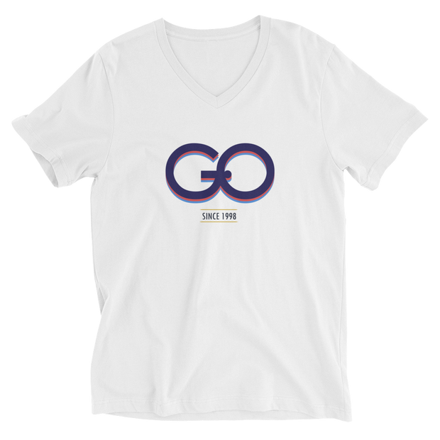 GiO (1998) Logo - Unisex Short Sleeve V-Neck T-Shirt - GiO (1998) Online Clothes Shop