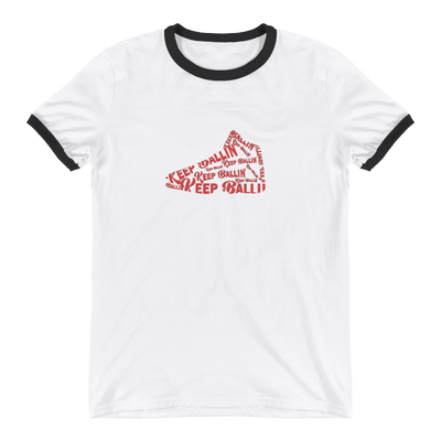 Keep Ballin' Shoe - Ringer T-Shirt - GiO 1998 Online Clothes Shop