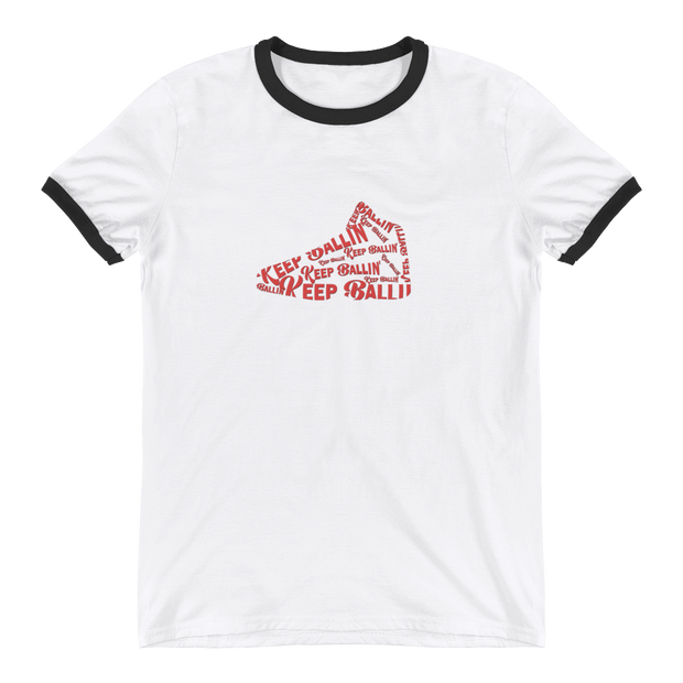 Keep Ballin' Shoe - Ringer T-Shirt - GiO (1998) Online Clothes Shop