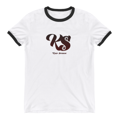 Keep Spinnin' - Ringer T-Shirt - GiO 1998 Online Clothes Shop