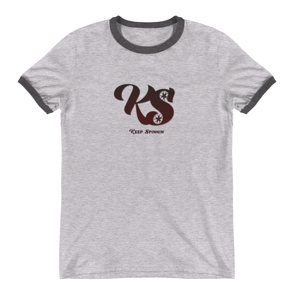 Keep Spinnin' - Ringer T-Shirt - GiO (1998) Online Clothes Shop