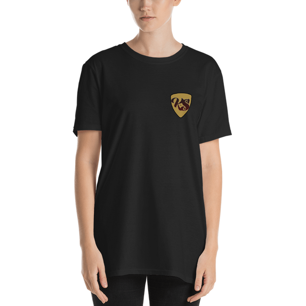 Keep Spinnin' Shield - Short-Sleeve Unisex T-Shirt (International) - GiO (1998) Online Clothes Shop