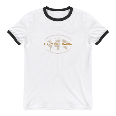 Sic Parvis Magna - Ringer T-Shirt - GiO 1998 Online Clothes Shop