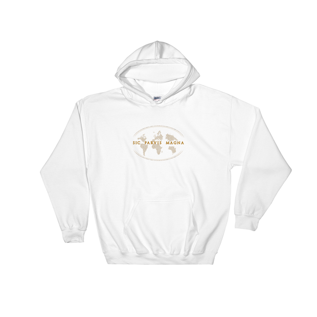 Sic Parvis Magna - Hooded Sweatshirt - GiO (1998) Online Clothes Shop