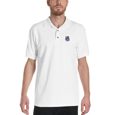 White Tiger - Embroidered Polo Shirt - GiO (1998) Online Clothes Shop