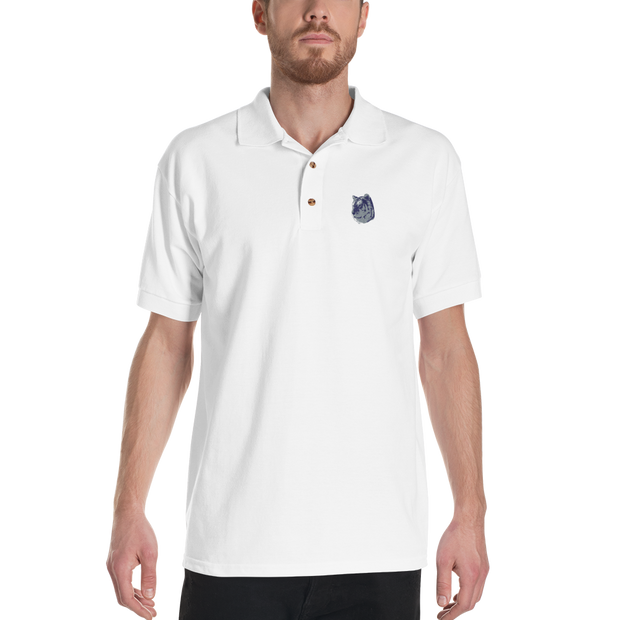 White Tiger - Embroidered Polo Shirt - GiO 1998 Online Clothes Shop