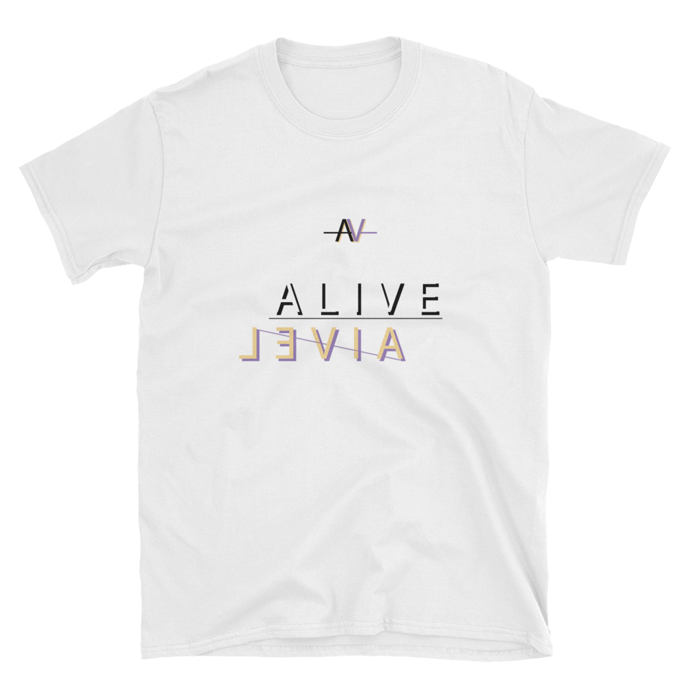 Alive - Double Logo Unisex T-Shirt - GiO (1998) Casual Style