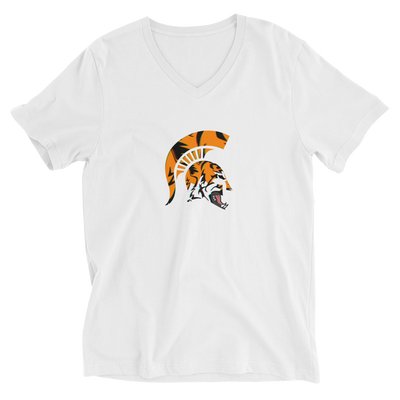 Spartan TiGER - Unisex V-Neck T-Shirt - GiO (1998) Online Clothes Shop
