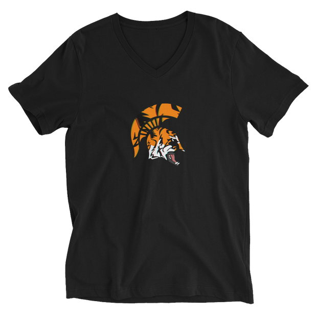 Spartan TiGER - Unisex Short Sleeve V-Neck T-Shirt - GiO (1998) Online Clothes Shop