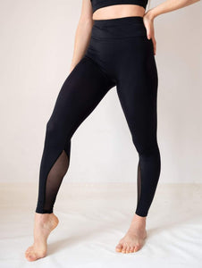 Black Full Length High-Waist Yoga and Fitness Legging for Girls and Women