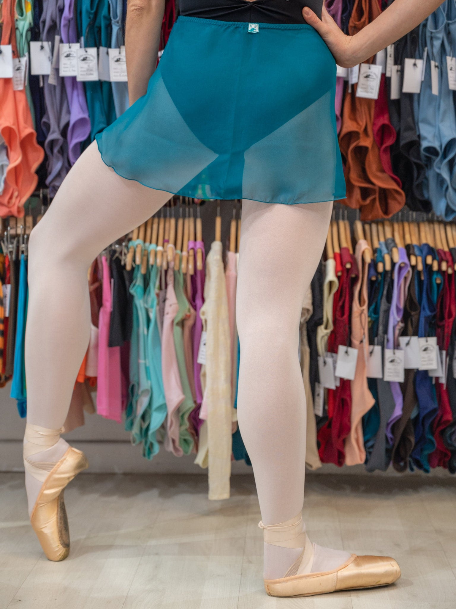 Atelier della Danza MP Aquamarine Ballet Wrap Short Skirt for Girls and Women in Georgette MP301