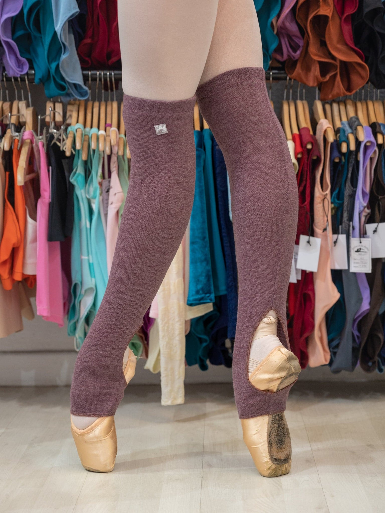 Berry Ballet Short Leg Warmers for Women and Men - Ballet Warm-up Clothes by Atelier della Danza MP