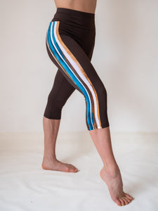 Brown yoga and fitness leo capri legging for women and girls by Lena Activewear