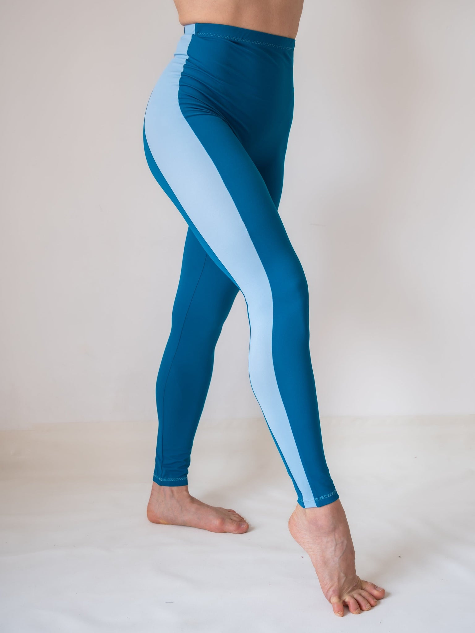 Petrol full Length High Waisted Yoga and Fitness Legging for Girls and Women by Lena Activewear