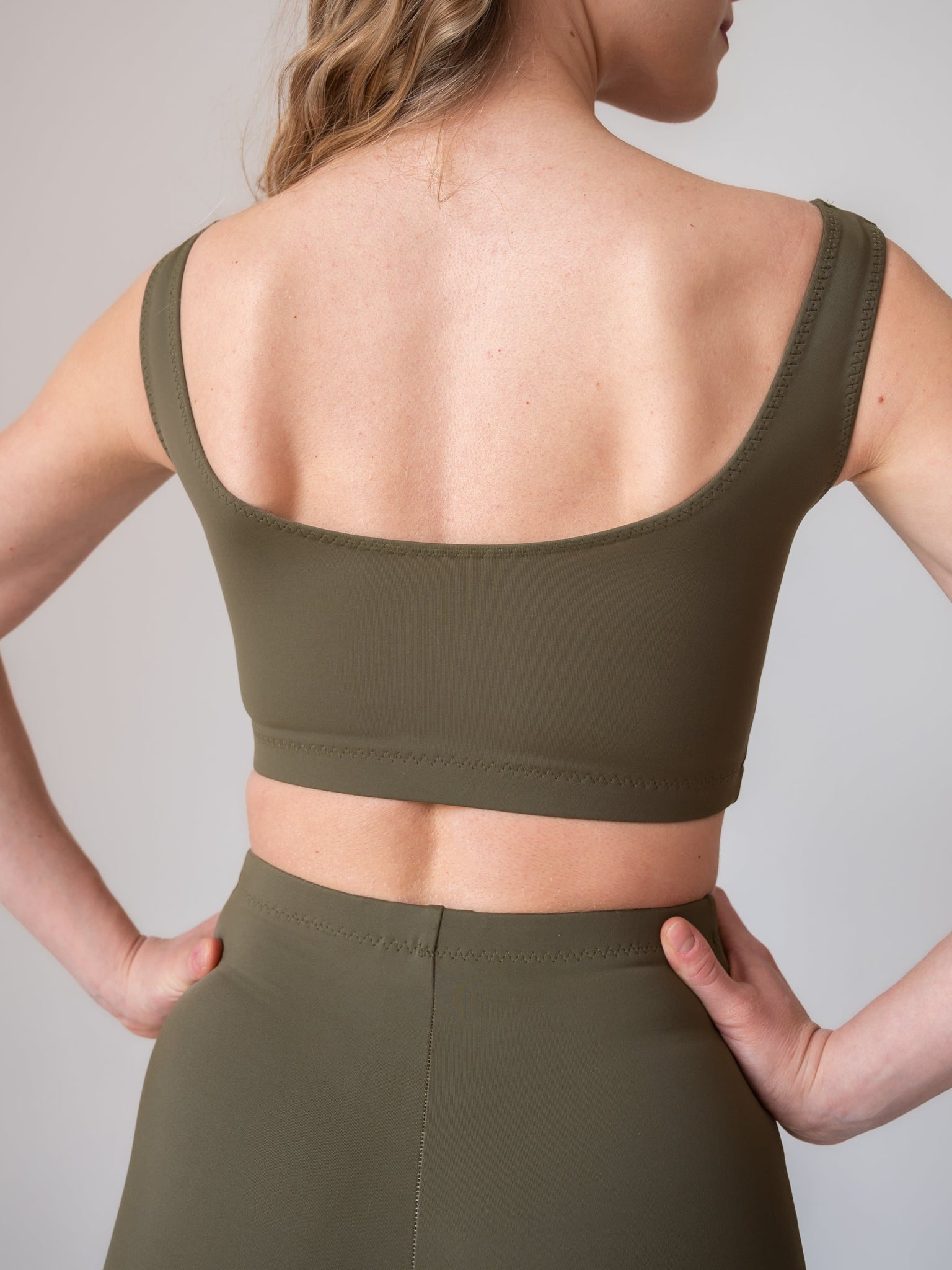 Sage green yoga and fitness bralettes for women and girls by Lena Activewear