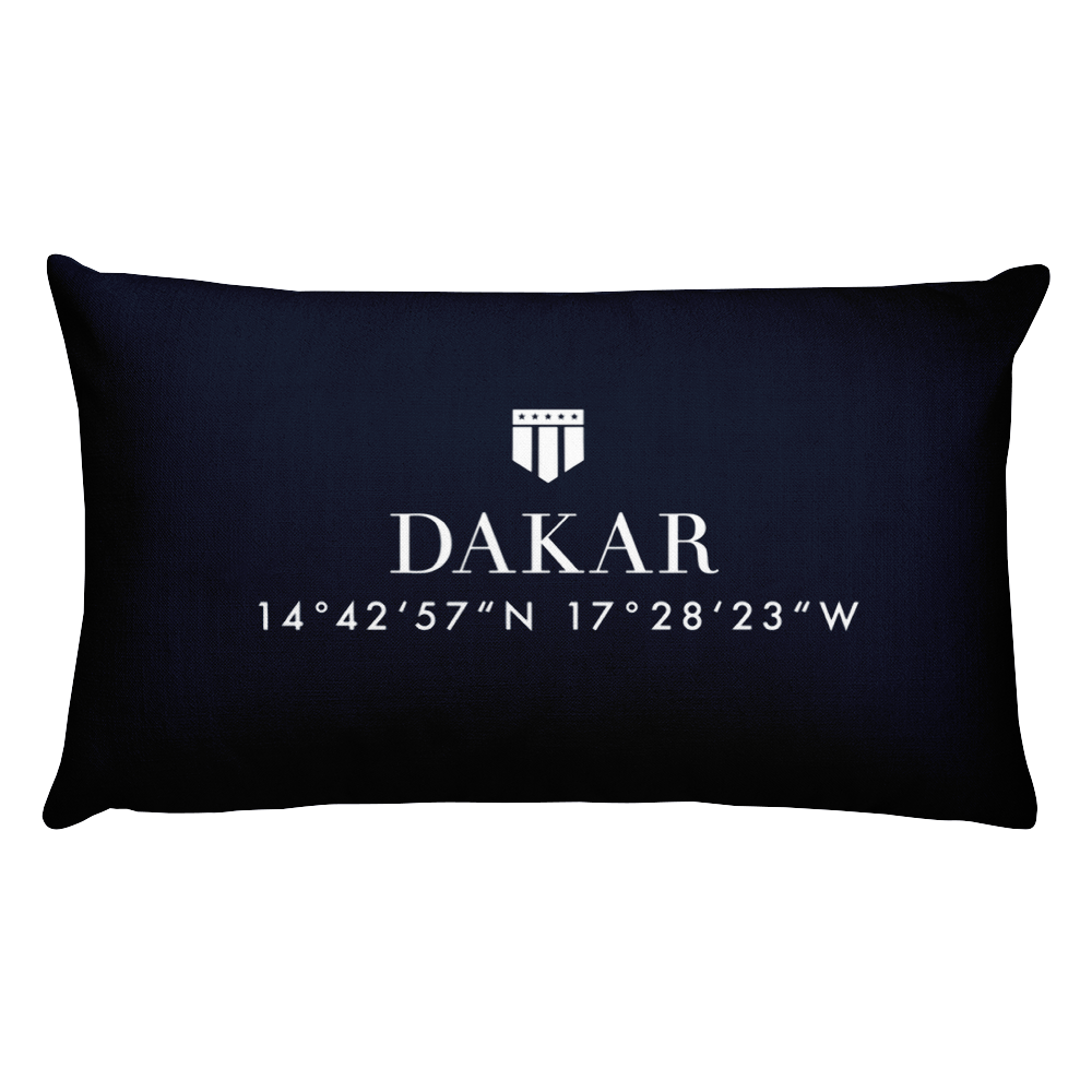 Dakar, Africa Pillow with Coordinates - Port Richmont