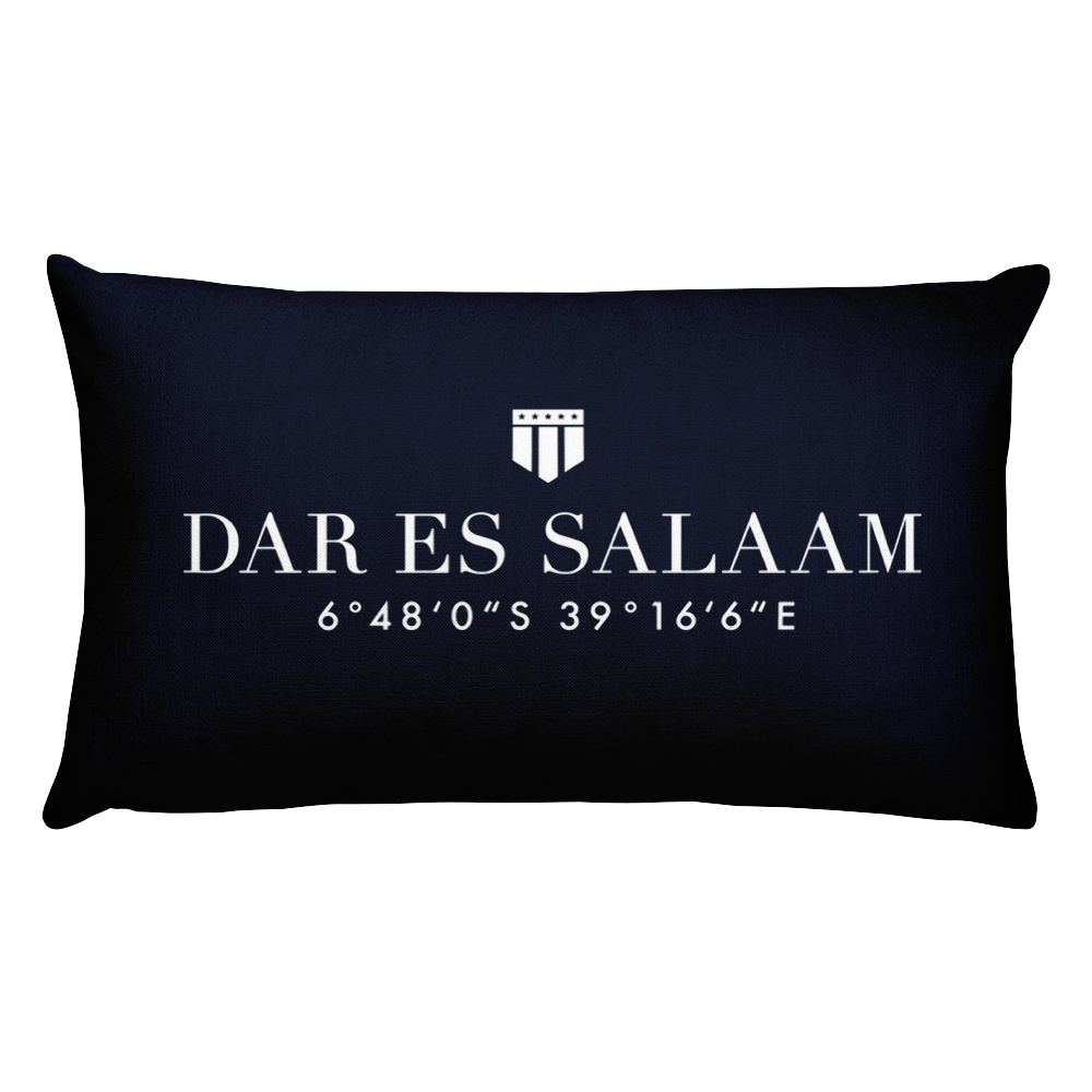 Dar es Salaam, Africa Pillow with Coordinates - Port Richmont
