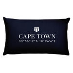 Cape Town, Africa Pillow with Coordinates - Port Richmont