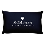 Mombasa, Africa Pillow with Coordinates - Port Richmont
