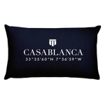 Casablanca, Africa Pillow with Coordinates - Port Richmont