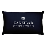 Zanzibar, Africa Pillow with Coordinates - Port Richmont