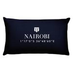 Nairobi, Africa Pillow with Coordinates - Port Richmont
