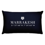 Marrakech, Africa Pillow with Coordinates - Port Richmont