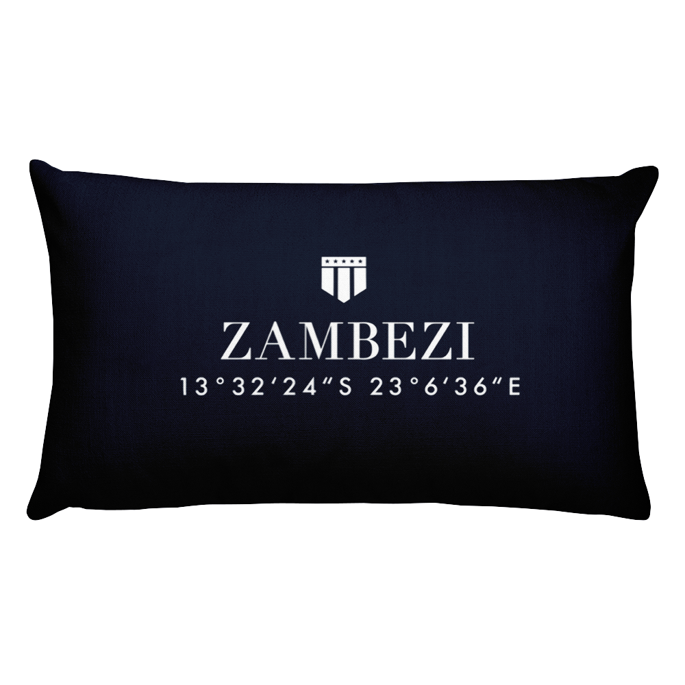 Zambezi, Africa Pillow with Coordinates - Port Richmont