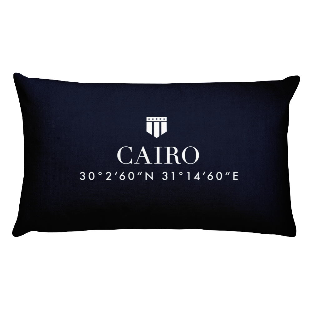 Cairo, Africa Pillow with Coordinates - Port Richmont