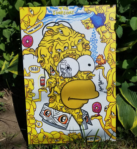 """The homer: embellished edition"" canvas print"