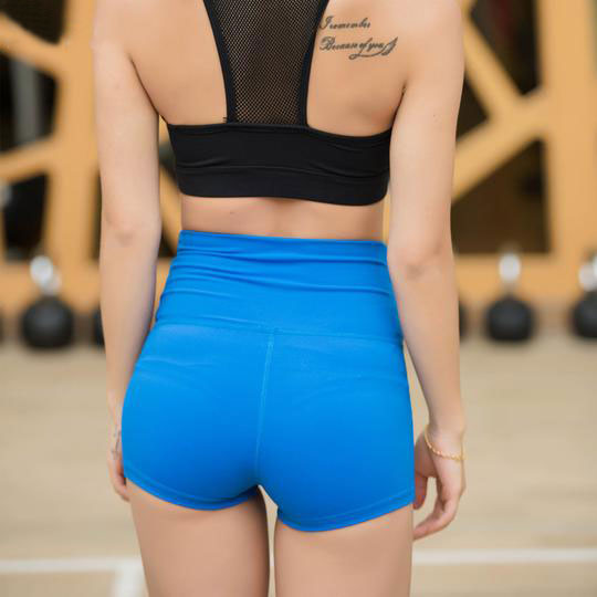 High waisted 260g Fabric Quick-drying Elastic Tight Yoga Shorts - yogashopper