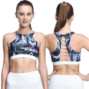 2018 Rushed Strappy Cropped Yoga Bra/Tank Top for Women - yogashopper