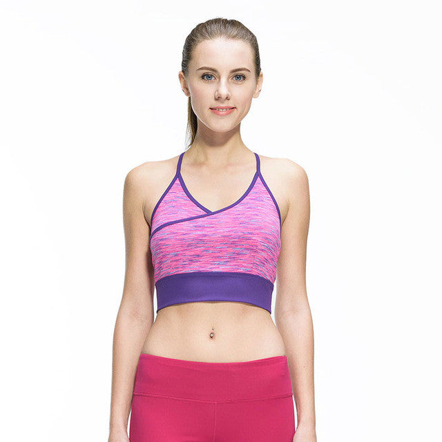 Sexy Breathable Padded Stretch Push Up Yoga Bra for Women - yogashopper