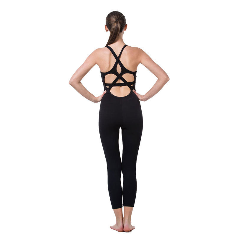 Sexy Seamless Breathable Elastic Yoga Top/Sportswear- Black - yogashopper