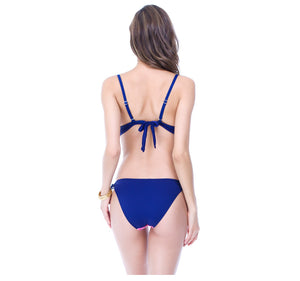 One-piece Flower Print Monokini Swimsuit with Sexy Bandage Cut-out - yogashopper
