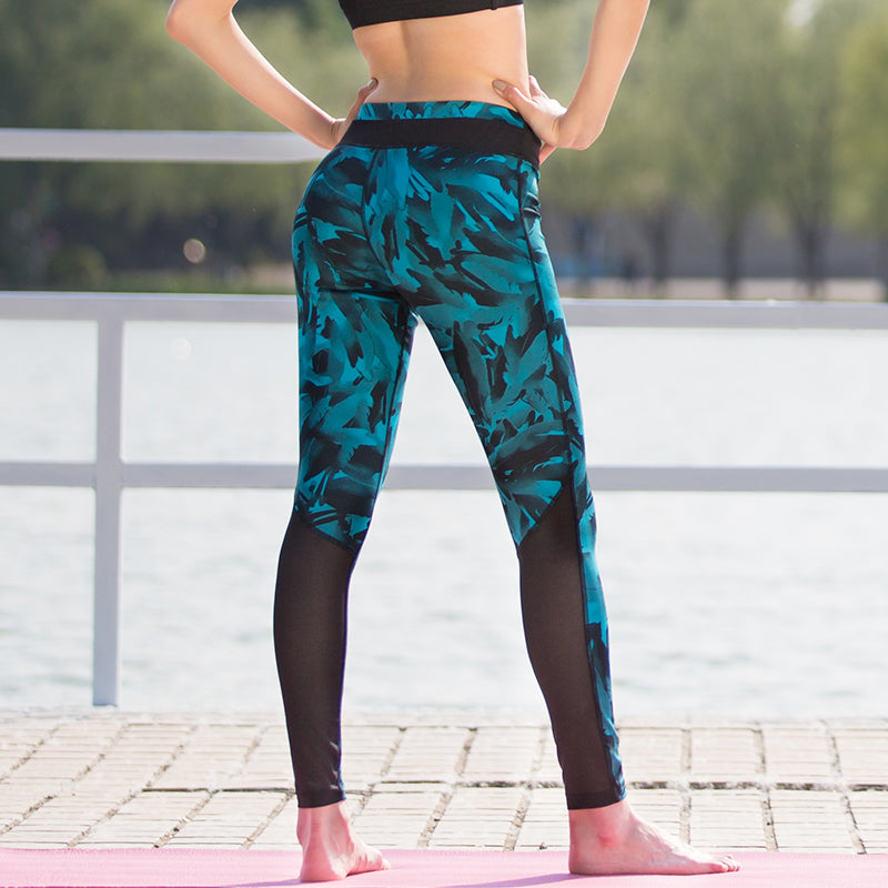 Blue Women Yoga Fitness Pants/Legging - yogashopper