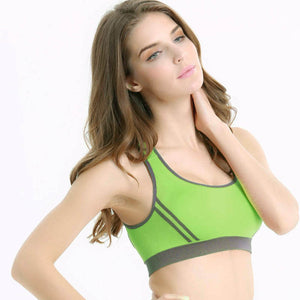Spiritual Women Padded Sports/Yoga Bra - Green - yogashopper
