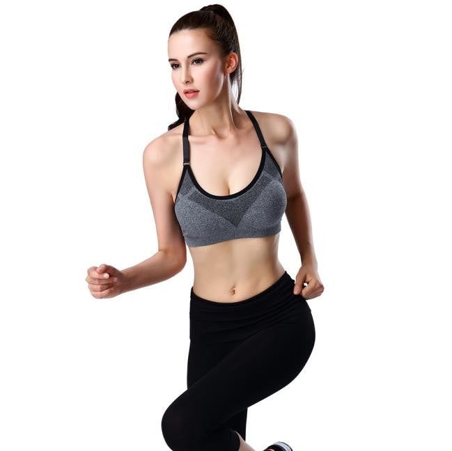 Women's Padded Yoga Bra for Workout Stretch Sports Running Gym - yogashopper