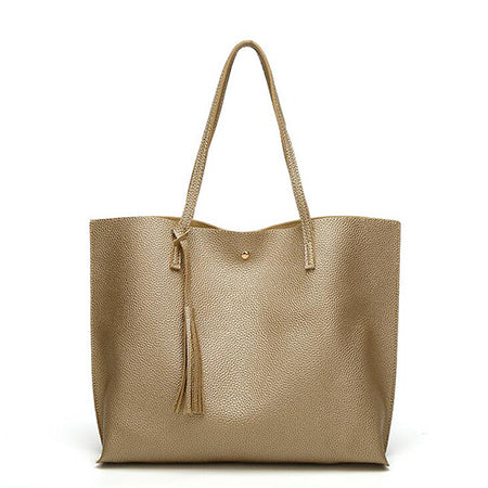 Casual Leather Tassel Designer Vintage Tote Shoulder Bag for Female - yogashopper