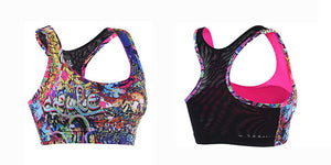 Colorful Medium Support Sports Bra  - Yoga Fitness Bra - yogashopper